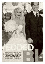 Celebrity bride carrie underwood fisher wedding dress carrie underwood married mike fisher junglespirit Images