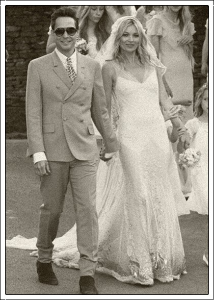Celebrity Bride Kate Moss Hince Wedding dress